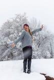 Joyful Girl in Snow Royalty Free Stock Image