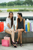 Joyful girlfriends Royalty Free Stock Photos
