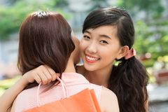 Joyful girls Stock Images