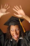 Joyful grad royalty free stock photography