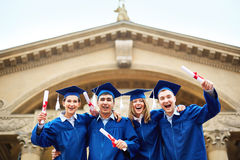 Joyful graduates Royalty Free Stock Images