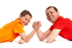 Joyful guys Stock Images