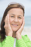Joyful happy attractive mature woman Royalty Free Stock Photos