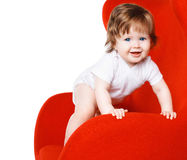 Joyful happy baby playing Stock Images