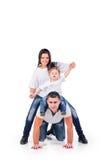 Joyful happy family Royalty Free Stock Photo