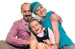 Joyful, happy family Royalty Free Stock Images