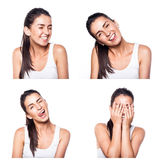 Joyful, happy girl composite Stock Photos