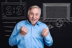Joyful happy man holding banknotes Royalty Free Stock Photo