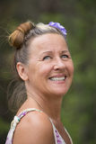 Joyful happy smiling senior woman outdoor Stock Photography