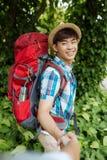 Joyful hiker Royalty Free Stock Photo