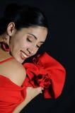 Joyful hispanic woman Stock Image