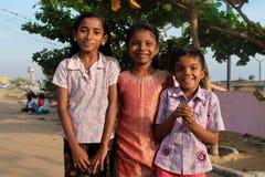 Joyful Indian children. Children on the street in Kollam Royalty Free Stock Images