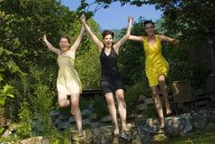 Joyful jump Royalty Free Stock Images