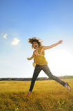 Joyful jump Royalty Free Stock Image