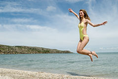 Joyful jump Royalty Free Stock Photo