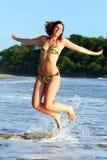 Joyful Jumping Stock Image