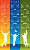 joyful kalender 2009 royaltyfri illustrationer