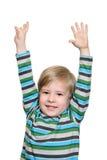 Joyful kid stock photo