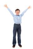 Joyful kid isolated on white Stock Image