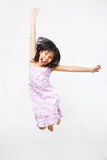 Joyful kid jumping high Royalty Free Stock Photo
