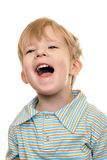 Joyful kid screaming Royalty Free Stock Photo