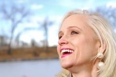 joyful kvinna Arkivfoton