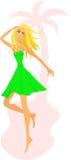 joyful kvinnabarn för strand stock illustrationer