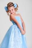 joyful liten princess royaltyfri bild