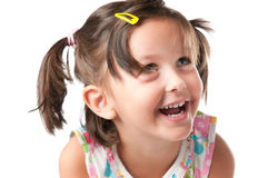 Joyful litle girl portrait Stock Photography