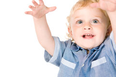 Joyful little boy Royalty Free Stock Images