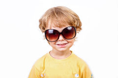 The joyful little boy with solar points Royalty Free Stock Image