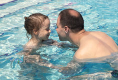 Joyful little girl with dad Royalty Free Stock Photography
