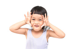 Joyful little girl Royalty Free Stock Photos