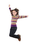 Joyful little girl jumping Stock Photography