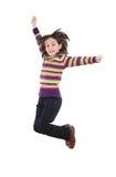 Joyful little girl jumping Stock Photography