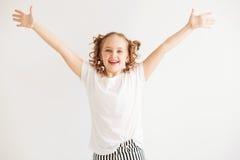 Joyful little girl Stock Photos