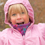 Joyful Little Girl Royalty Free Stock Photography
