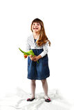 Girl with tulip Stock Images