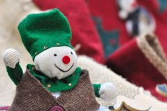 Joyful lutin Stock Images