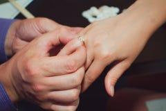 Joyful man making proposal to his future wife Royalty Free Stock Image