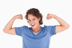 Joyful man posing Stock Photo