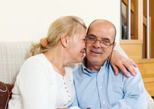 Joyful mature couple together Stock Image