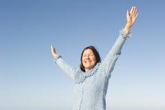 Joyful mature woman  Royalty Free Stock Image