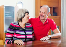 Joyful mature woman with  husband Stock Photos