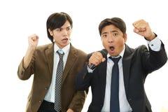 Joyful men Stock Photo