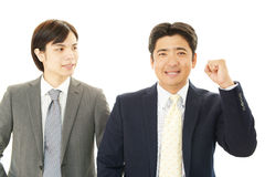 Joyful men Stock Images