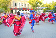 Joyful Mexican dance Stock Photos