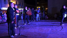 Joyful Mexican Music Band at Night stock footage