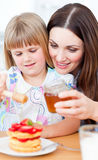 Joyful mother and her daughter Royalty Free Stock Images