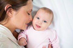 Joyful mother with her daughter baby girl Royalty Free Stock Photography
